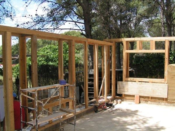 Construccin de casas de estructura de madera share the - Casas estructura de madera ...