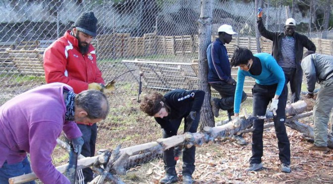 Nuevo encuentro de ayuda solidaria bioconstruyendo