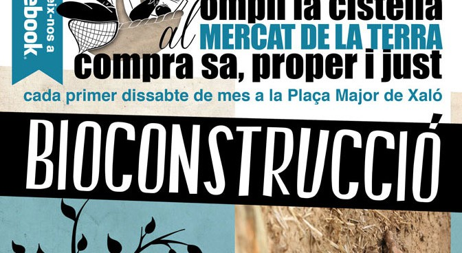 Bioconstrucción en el Mercat de la Terra en Xaló